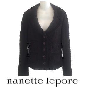 Nanette Lepore Boxy Boucle Jacket Blazer